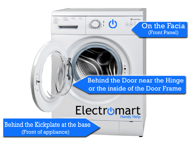 Washing Machine Appliance Rating Plate Model Number Location